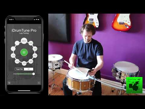 Snare Drum Tuning - clearing/equalising around the edge of the drum and tuning the resonant drumhead