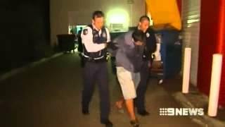 2013 - Police Dog Nordenstamm Robbie During A Gold Coast Arrest.
