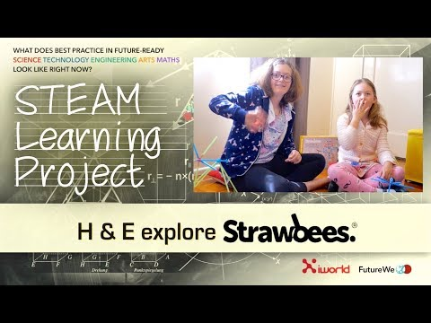 Strawbees Unboxing With H & E - STEAM Learning Project Pt9