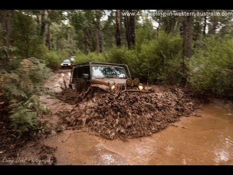 Dwellingup, mud, tracks, river crossing and bog holes