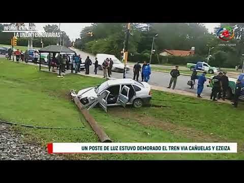 ACCIDENTE EN LA RUTA 205 EN LA UNIÓN FERROVIARIA PARTIDO DE EZEIZA
