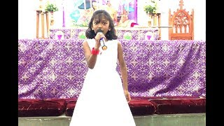 Little Drummer Boy Christmas Song By Adorable Kid Beatrice Jerzli | CSI Karunalaya Church