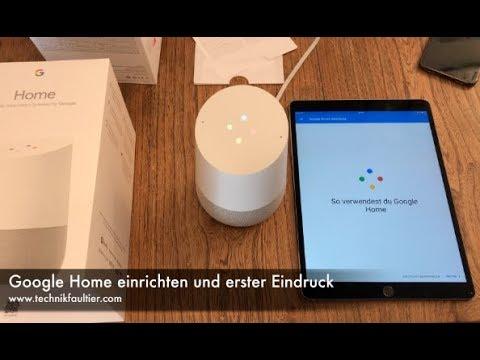 Google Now Einrichten : google home einrichten und erster eindruck youtube ~ Watch28wear.com Haus und Dekorationen