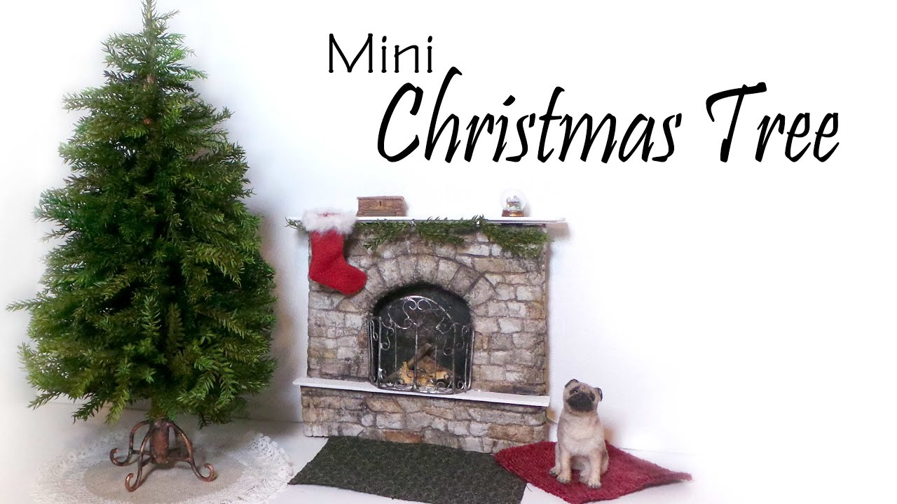 Miniature Christmas Tree Tutorial (+Stand & Skirt) - Dolls/Dollhouse ...