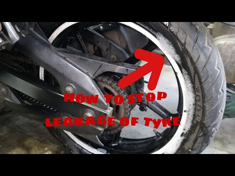 Tubeless Tyre Side Leakage Problem  How To Solve All Bikes And Scooty #rajesh