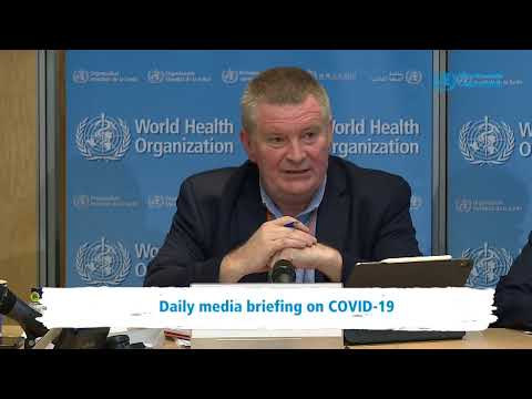 Live from WHO HQ - Daily Press Briefing on COVID-19 --Coronavirus 6MARCH2020