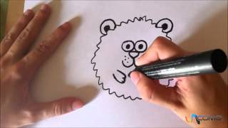Dibujar un hamster animado - Drawing an animated hamster