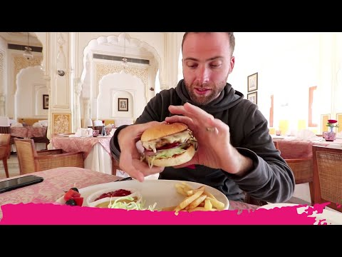 WORLD'S JUICIEST Mutton Burger + RARE GEM Shopping | Samode, India