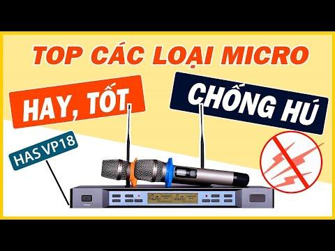 TOP Các Loại Micro Karaoke Nào Hay - Tốt Chống Hú - Va Đập - HAS VP18 [Hoàng Audio]