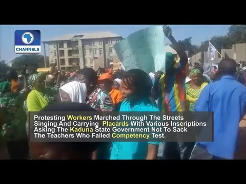 Kaduna Workers Shut Down Streets In Protest