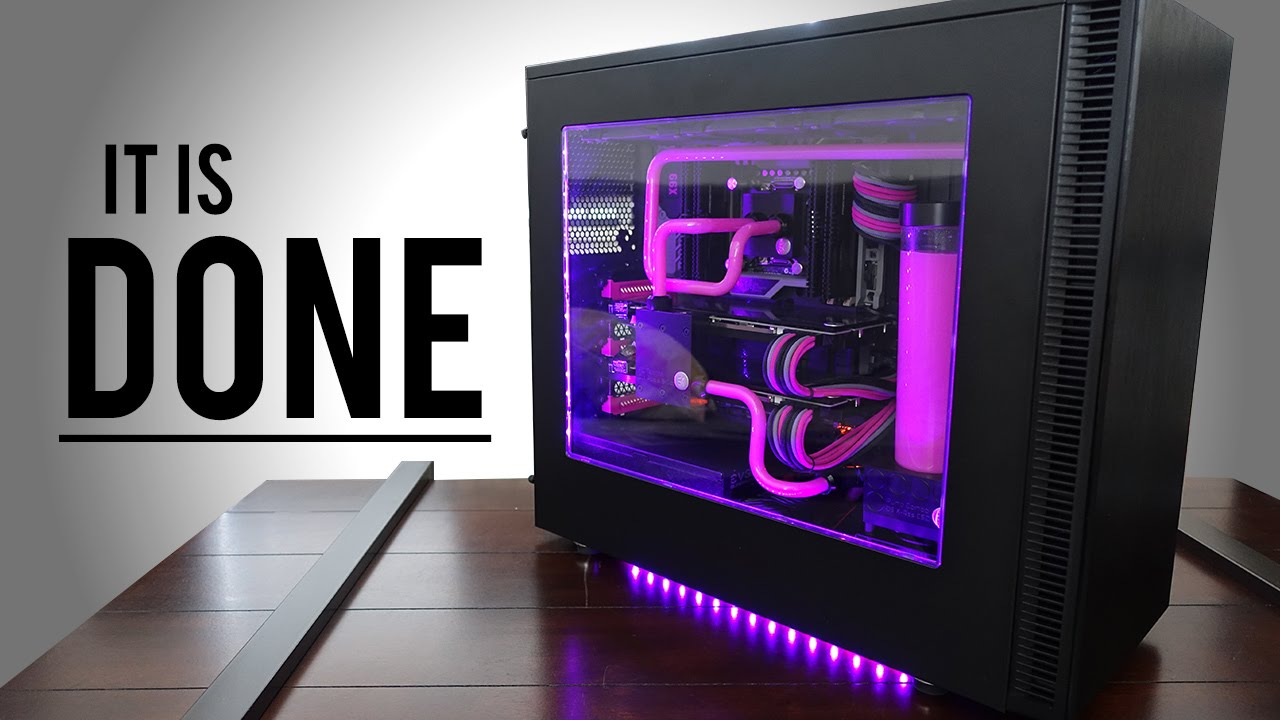 Custom Water Cooled Build Log 7 - The End - YouTube