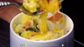 Tassen Mahlzeit aus der Mikrowelle - 4 Rezepte für kleine Mahlzeiten