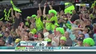 chris gayle massive sixes in KFC T20