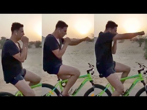 Akshay Kumar's Unbelievable Cycle Stunt Will Thrill You