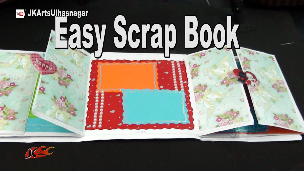 How to scrapbook at home - How To Make A Scrapbook Diy Scrapbook Tutorial Valentine S Day Gift Idea Jk Arts 967 Youtube