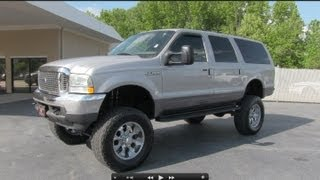 2002 Ford Excursion XLT 7.3L Turbo Diesel Start Up, Exhaust, and In Depth Tour