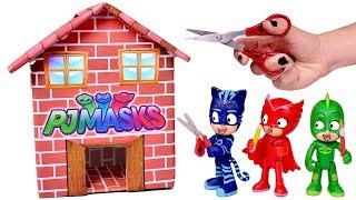 PJ MASKS 🏠 Hacemos una casa de cartón para los Héroes en pijama