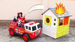 Дима собрал новую пожарную машину и потушил пожар | Дима и Машинки