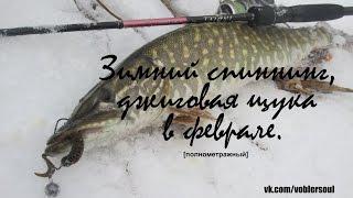 Ловля щуки в феврале. Зимний спиннинг. Видео отчет от 6.02. 2016 г..