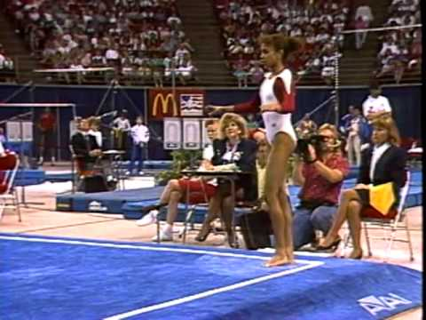 Betty Okino - Floor Exercise - 1991 McDonald's American Cup streaming vf