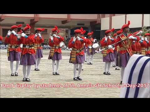 Band display by students of St  Anne's girls' High School, Ranchi (GYV)