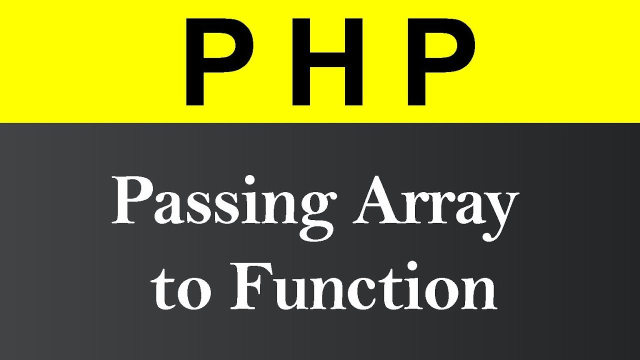Passing Array to Function in PHP (Hindi)