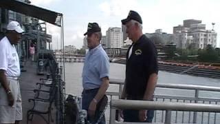 USS Firedrake Crew Rung Aboard the USS Kidd