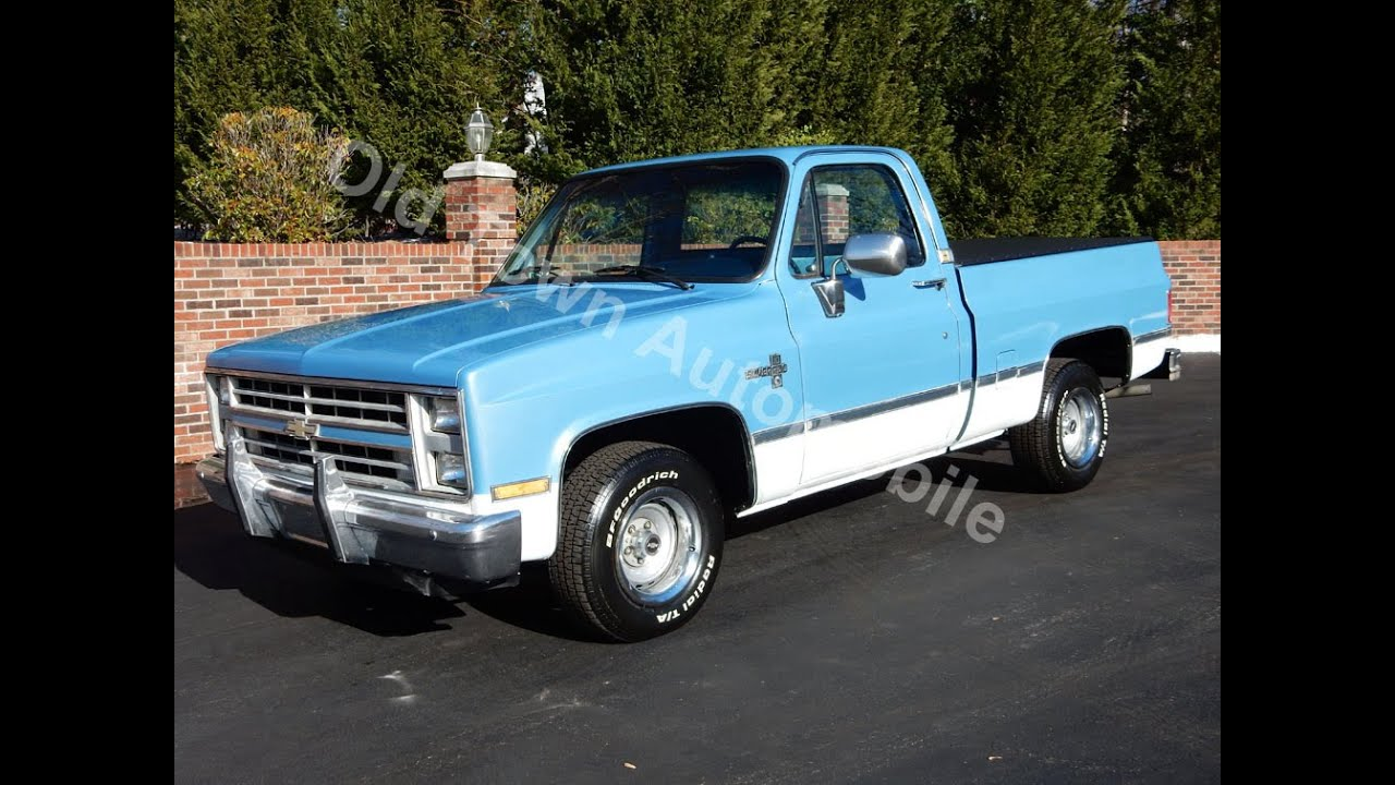 1987 chevy silverado short bed for sale old town automobile in maryland youtube. Black Bedroom Furniture Sets. Home Design Ideas