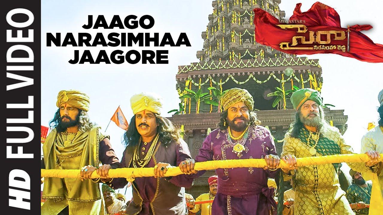 Download Full Video Jaago Narasimhaa Jaagore | SyeRaa Narasimha Reddy | Chiranjeevi Amitabh Bachchan  Ram C