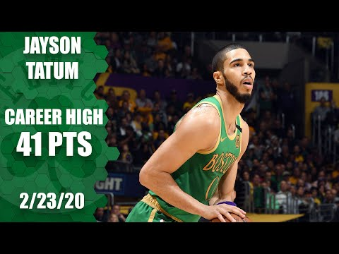 Jayson Tatum scores 41, ties career high in Celtics vs. Lakers | NBA 2019-20 Highlights