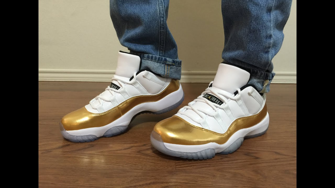 1a1608e2142 Jordan Retro 11 Low Olympics Gold Closing Ceremony unbox and on feet review