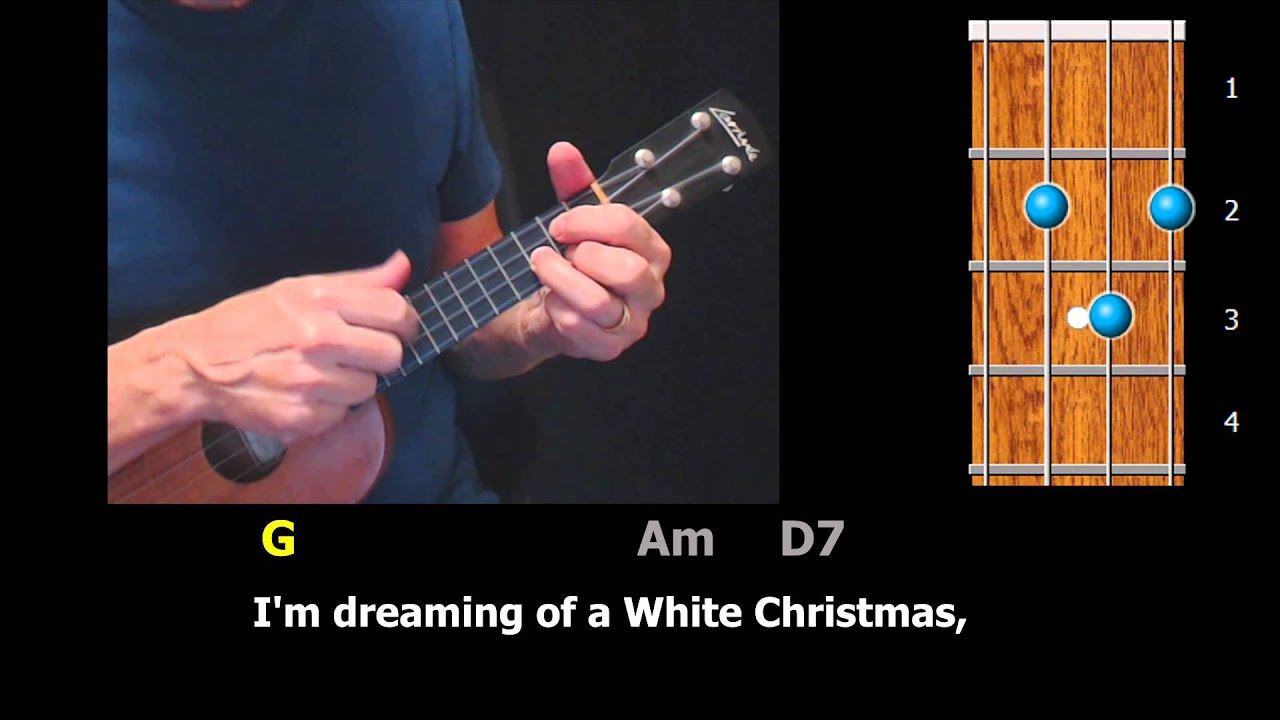 white christmas easy ukulele strum along youtube