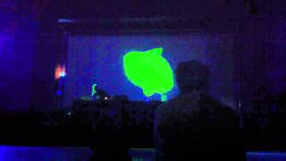 Russell Haswell performing at WE CAN ELUDE CONTROL, Bexhill De La Warr Pavillion 9/6/12