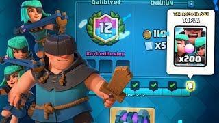 YENİ KART SERSERİLER 12 GALİBİYET?! - Clash Royale