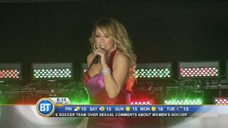 Entertainment City: Mariah Carey hits the stage for the first time since split with fiancé