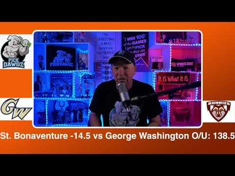 St. Bonaventure vs George Washington 2/26/21 Free College Basketball Pick and Prediction CBB Betting