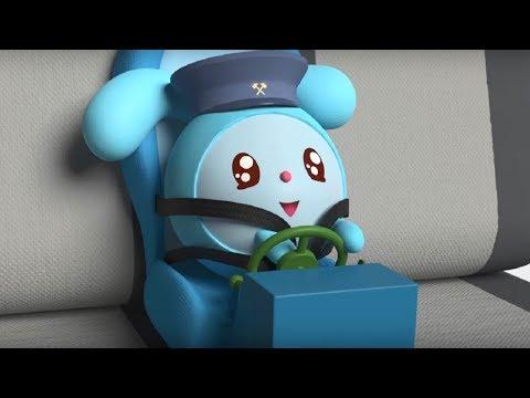 Малышарики -  Три кита - серия 148 - Обучающие мультфильмы для малышей - автокресло