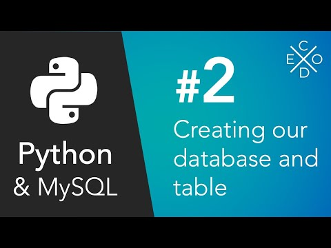 Python and MySQL - Creating our Database and Table