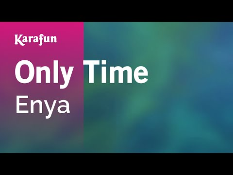 Karaoke Only Time - Enya *
