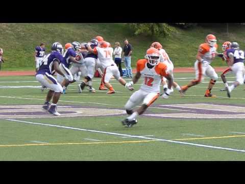 Woods catch McDonogh/Mount St. Joseph football 9/28/13