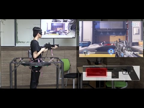 Korean Teenagers Invented A Way To Play Overwatch In VR with Full-Motion Tracking (SADAWATCHomemade)