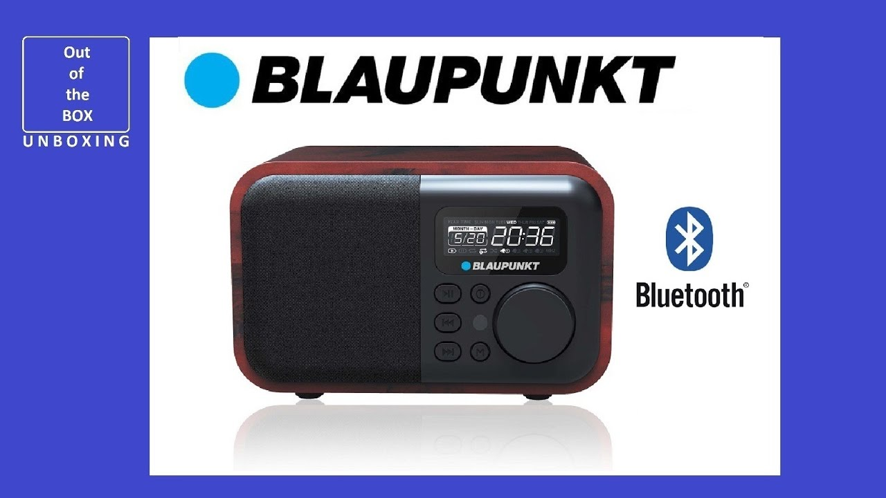 Radio BLAUPUNKT HR10BT Alarm Bluetooth AUX USB/SD MP3 UNBOXING