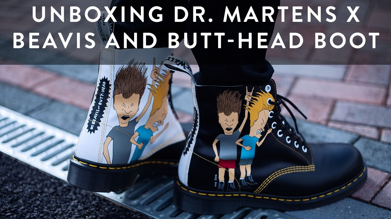 sale retailer a1fcf a7a45 Dr. Martens x Beavis  Butt-Head Boot Unboxing  Tips  On Feet  The New  Collections  Llomotes