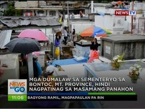 NTG: Mga dumalaw sa sementeryo sa Bontoc, Mt. Province, hindi nagpatinag sa masamang panahon