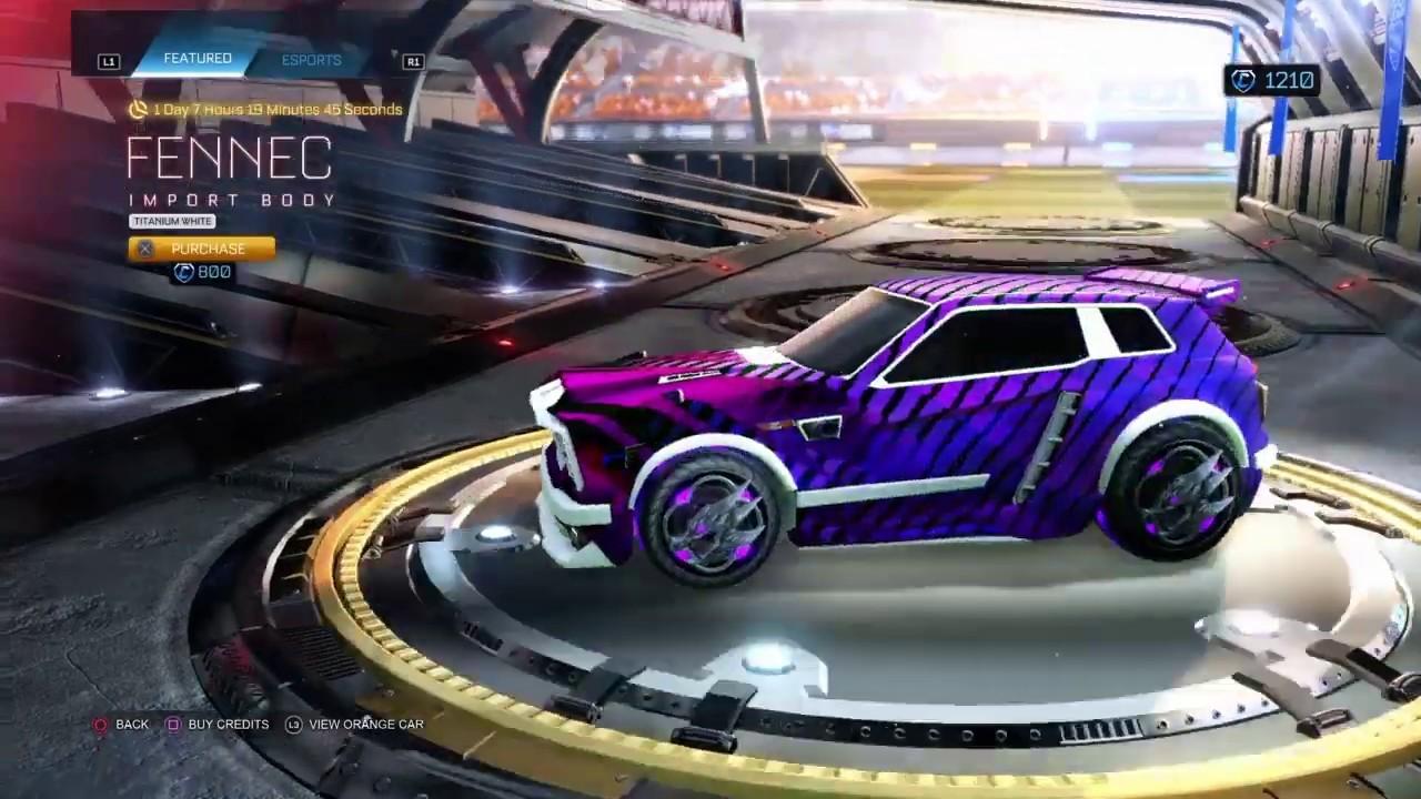 rocket league garage trade bumper