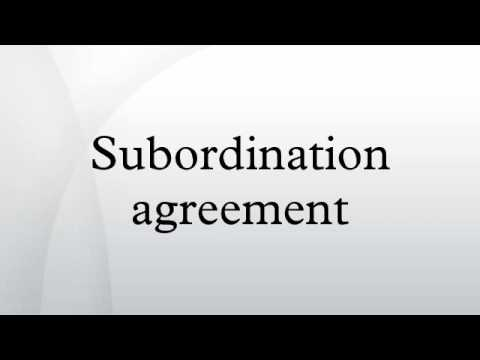 Subordination Agreement Images  Agreement Letter Format