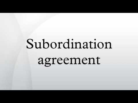 Subordination Agreement Youtube