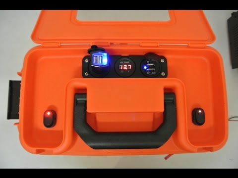 hqdefault diy portable 12v battery box with power ports for kayak version 2