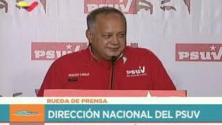 Diosdado Cabello en rueda de prensa del PSUV, 21 enero 2019