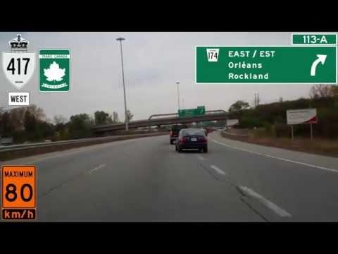Ontario Highway 417 West in Ottawa, The Queensway in Canada's Capital City